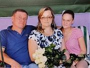 Анна Бортюк с дочерью и мужем Николаем